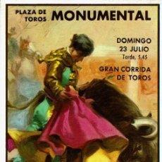 Postales: CARTEL PLAZA DE TOROS MONUMENTAL-PACO CAMINO, EL VITI, EL CORDOBES. Lote 111811235