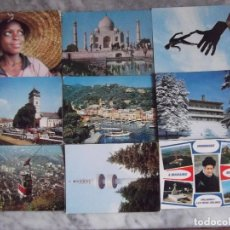 Postales: EXTRANJERAS-V47-VARIOS PAISES-9 POSTALES-INDIA-ROMANIA-BULGARIA-ITALIA-NIGERIA-FRANCIA. Lote 112890947