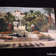 Postales: CADIZ, ALAMEDA MARQUES DE COMILLAS. Lote 115237215