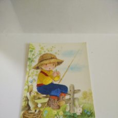Postales: ANTIGUA POSTAL BORDADA CON HILO. Lote 115248611