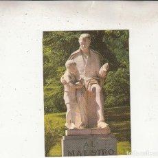 Postales: MONUMENTOS AL MAESTRO. Lote 115291963