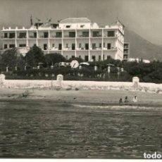 Postales: MARBELLA-FOTOGRÁFICA HOTEL EL FUERTE-VISTA DESDE EL MAR--.AÑO 1961- RARA. Lote 116981711
