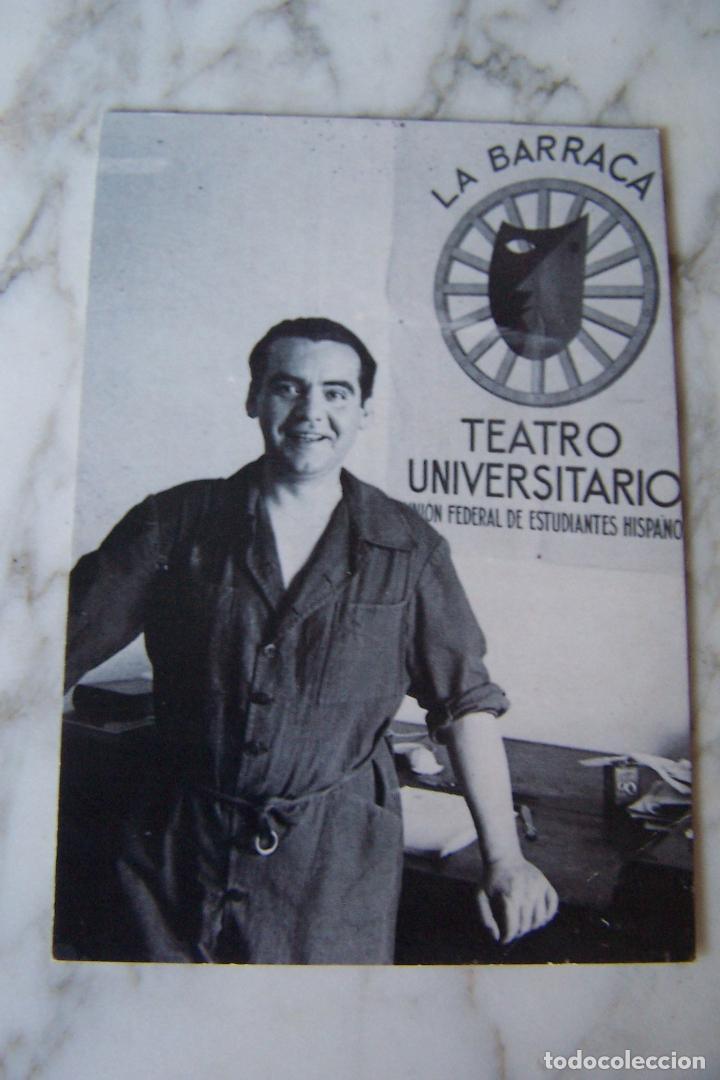 POSTAL FEDERICO GARCÍA LORCA. VEGAP 1998. FUNDACIÓN FEDERICO GARCÍA LORCA. (Postales - Varios)