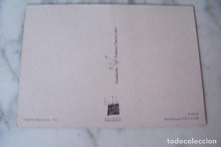 Postales: POSTAL FEDERICO GARCÍA LORCA. VEGAP 1998. FUNDACIÓN FEDERICO GARCÍA LORCA. - Foto 2 - 120337507