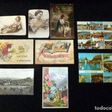 Postales: LOTE ANTIGUAS POSTALES. AÑOS 20-70. Lote 121180147