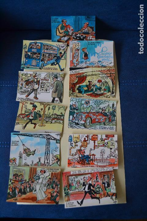 12 POSTALES DE MINGOTE SOBRE LA LOTERIA NACIONAL (Postales - Varios)