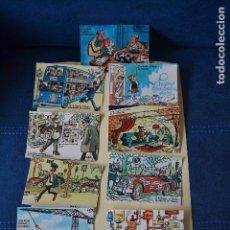 Postales: 12 POSTALES DE MINGOTE SOBRE LA LOTERIA NACIONAL. Lote 122772251