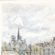 Postales: POSTAL B4029: PARIS: ROBERT LEPINE. ACUARELA. Lote 123338227