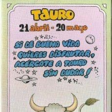 Postales: POSTAL SIGNOS DEL ZODIACO - TAURO. Lote 124392171