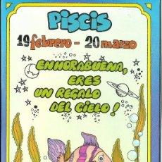 Postales: POSTAL SIGNOS DEL ZODIACO - PISCIS. Lote 124392523