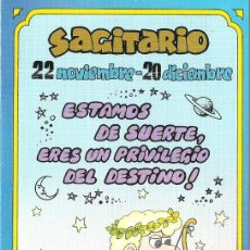 Postales: POSTAL SIGNOS DEL ZODIACO - SAGITARIO. Lote 124392959