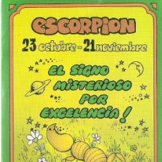 Postales: POSTAL SIGNOS DEL ZODIACO - ESCORPION. Lote 124393027