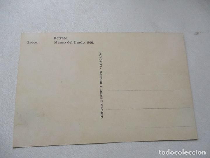 Postales: ANTIGUA TARJETA POSTAL: RETRATO , S/F- FOTOTÍPIA HAUSER Y MANET-MADRID - Foto 3 - 124908315
