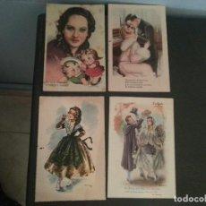 Postales: GRUPO DE CUATRO POSTALES ANTIGUAS. Lote 125443871