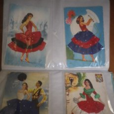 Postales: 4 POSTALES TRAJES TIPICOS. Lote 127907675