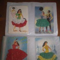 Postales: 4 POSTALES TRAJES TIPICOS. Lote 127907763