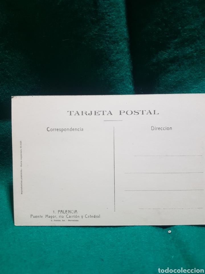 Postales: Postal puente y Catedral de Palencia sin circular - Foto 2 - 128910416