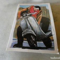 Postales: POSTAL NUEVA SIN CIRCULAR JAVIER DE JUAN VESPA MOVIDA. Lote 178908577