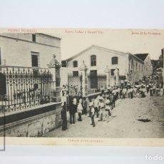 Postales: ANTIGUA POSTAL - PEDRO DOMECQ VINOS, COÑAC - ENTRADA DE LOS OPERARIOS - JEREZ DE LA FRONTERA. Lote 130906056
