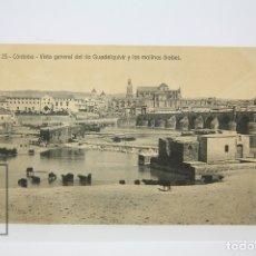 Postales: ANTIGUA POSTAL - CÓRDOBA / VISTA GENERAL RÍO GUADALQUIVIR Y LOS MOLINOS - EDIT. RAFAEL GARZÓN. Lote 130906076