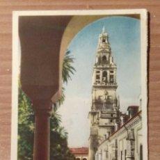 Postales: POSTAL 25. CÓRDOBA. PATIO DE LOS NARANJOS Y TORRE DE LA CATEDRAL . Lote 131020276
