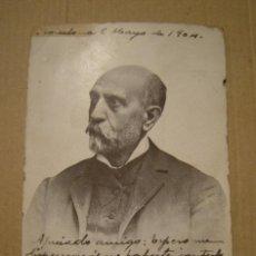 Postales: NICOLAS SALMERON. POSTAL CIRCULADA EL AÑO 1904. ESTADO EL DE LAS FOTOGRAFIAS. Lote 132686334