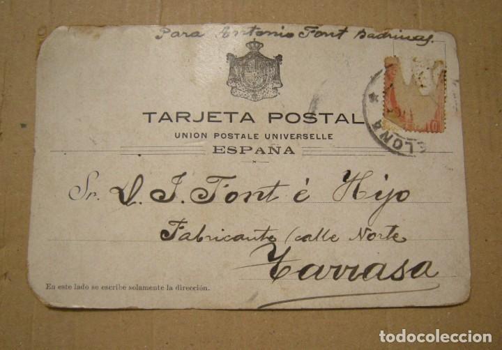 Postales: NICOLAS SALMERON. POSTAL CIRCULADA EL AÑO 1904. ESTADO EL DE LAS FOTOGRAFIAS - Foto 2 - 132686334