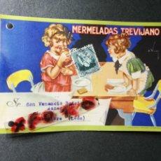 Postales: PUBLICIDAD DE MERMELADAS TREVIJANO. ANTIGUA TARJETA POSTAL. LOGROÑO. AÑOS 30.. Lote 133689530