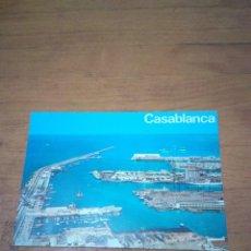 Postales: POSTAL CASABLANCA. VUE AERIENNE SUR LE PORT.. Lote 134370250
