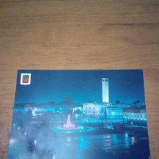 Postales: POSTAL. CASABLANCA. FUENTE LUMINOSA Y MUSICAL. PLAZA DE LAS NACIONES UNIDAS. . Lote 134370762