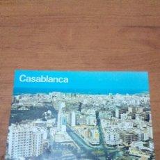Postales: POSTAL CASA BLANCA. VUE AERIENNE. SUR I´A VENUE HASSAN II.. Lote 134375066