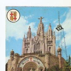 Postales: POSTAL 029126 : BARCELONA, TEMPLO EXPIATORIO DEL TIBIDABO. Lote 135053035