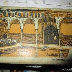 Postales: ALBUM COMPLETO POSTALES ANTIGUAS GRANADA ALHAMBRA ALAMBRA UNA MANUSCRITA. Lote 135607386