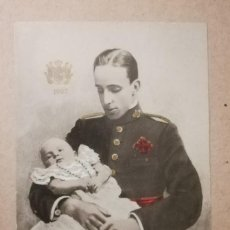 Postales: ANTIGUA POSTAL. REY ALFONSO XIII DE BORBÓN Y EL PRÍNCIPE DE ASTURIAS.. Lote 136158470