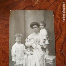 Postales: ANTIGUA POSTAL.INFANTA MARÍA TERESA DE BORBÓN. SUS HIJOS. ESPOSA DE FERNANDO DE BAVIERA.. Lote 137518082