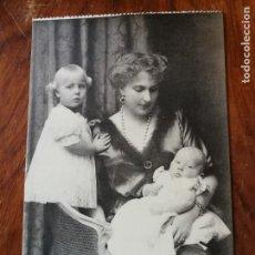 Postales: ANTIGUA POSTAL. S.M. LA REINA DOÑA VICTORIA CON S.A.R. LA INFANTA DOÑA MARÍA CRISTINA Y INFANTE JUAN. Lote 137530234