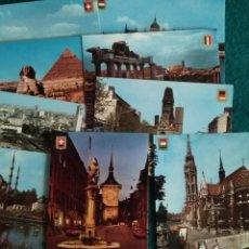 Postales: POSTALES COLECCION CINCO CONTINENTES .- 9 POSTALES ESCUDO DE ORO S/C. Lote 137535409