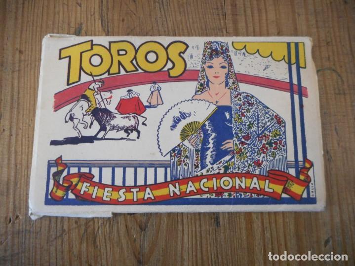 DESPLEGABLE DE 10 POSTALES SOBRE EL MUNDO DEL TORO (Postales - Varios)