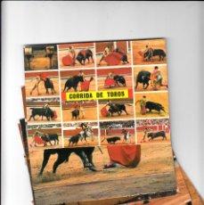 Postales: TAUROMAQUIA LOTE 10 POSTALES DE TOROS COLECCIÓN KOLORHAM AÑOS 60. Lote 138800142