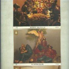 Postales: MUSEO SALZILLO EN MURCIA, JUEGO DE POSTALES EN CARPETA ACORDEON. Lote 139448122