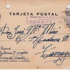 Postales: TARJETA POSTAL CON CENSURA MILITAR DE TARRAGONA 1943. Lote 139650250