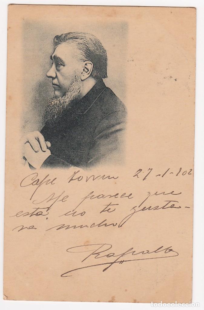 CARTA POSTAL CON FECHA DE 27-1-1902 - POR IDENTIFICAR PERSONAJE - (IMPORTANTE VISITAR REVERSO). EBC (Postales - Varios)