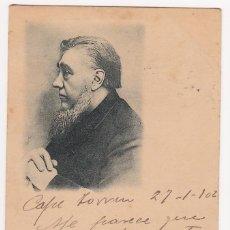 Postales: CARTA POSTAL CON FECHA DE 27-1-1902 - POR IDENTIFICAR PERSONAJE - (IMPORTANTE VISITAR REVERSO). EBC. Lote 140633834
