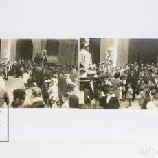 Postales: 2 POSTALES FOTOGRÁFICAS - FIESTA MAYOR / GIGANTES Y CABEZUDOS BADALONA ? - GEGANTS - AÑO 1928. Lote 141754514