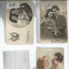 Postales: POSTALES DE ENAMORADOS ORIGINALES 1940 - 1950. Lote 142718138