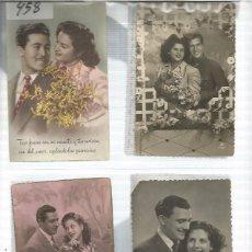 Postales: POSTALES DE ENAMORADOS ORIGINALES 1940 - 1950. Lote 142718282
