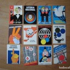 Postales: JUEGO DOCE POSTALES LOTERÍA NACIONAL SERIE I CONCURSO DE CARTELES 1977. Lote 144906248