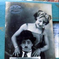 Postales: CIRCO, ESPECTACULO, ADRIANA Y SU CHARLOT ,1924, FOTO GRECO ZARAGOZA. Lote 210720045