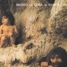 Postales: POSTAL B9103: MUSEO DE CERA BARCELONA: CAVERNICOLAS. Lote 144235988