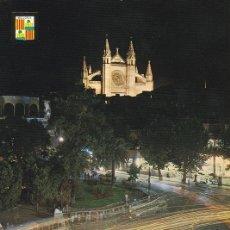 Postales: POSTAL B9108: MALLORCA: CATEDRAL Y PLAZA DE LA REINA. Lote 144236384